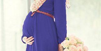 kapalı kadın hamile kıyafeti, tesettürlü hamile kıyafeti, kapalı kadın hamile elbisesi